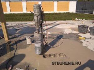 Выбуривание кернов бетона