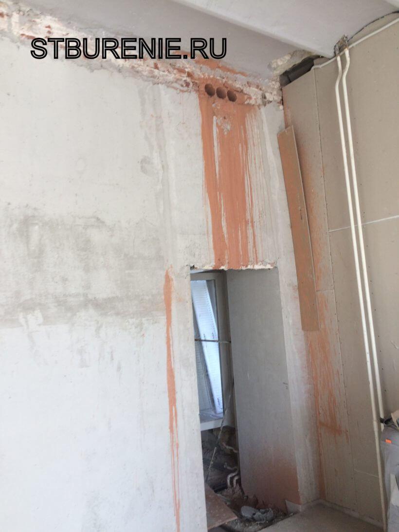 Алмазное сверление отверстий в стене