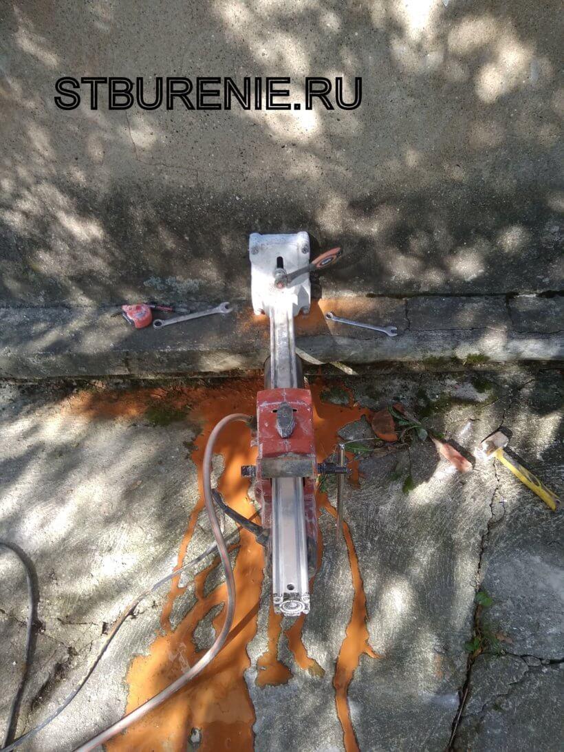Сверление отверстий установками алмазного бурения в Коломне