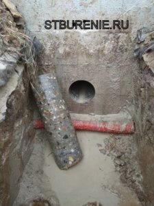 Алмазное бурение отверстий под канализацию